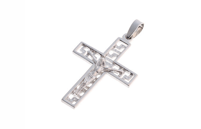 18ct White Gold Crucifix Pendant (2.5g) (P-5492)