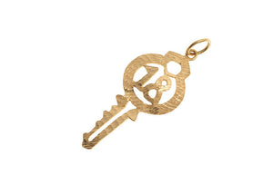 22ct Yellow Gold Key '18' Pendant (3.2g) (P-5548)