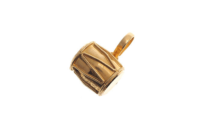 22ct Yellow Gold Tabla Drum Taweez / Taviz Pendant (6g) (P-5551)
