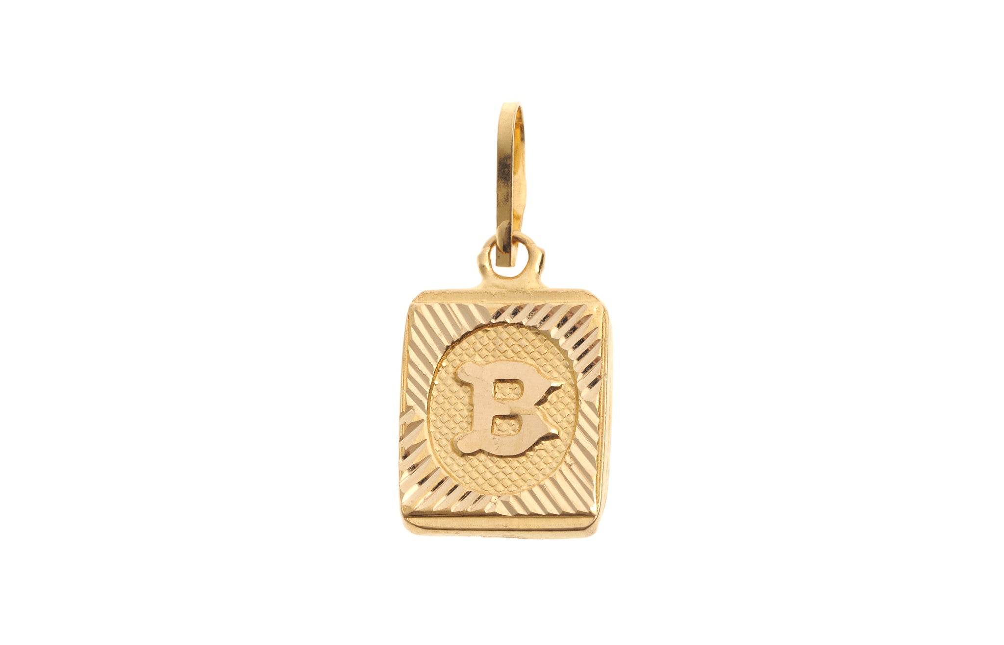 'B' Initial Pendant 22ct Yellow Gold (0.9g) P-5603
