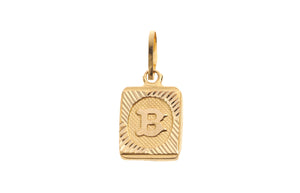 22ct Yellow Gold 'B' Initial Pendant (0.9g) (P-5603)