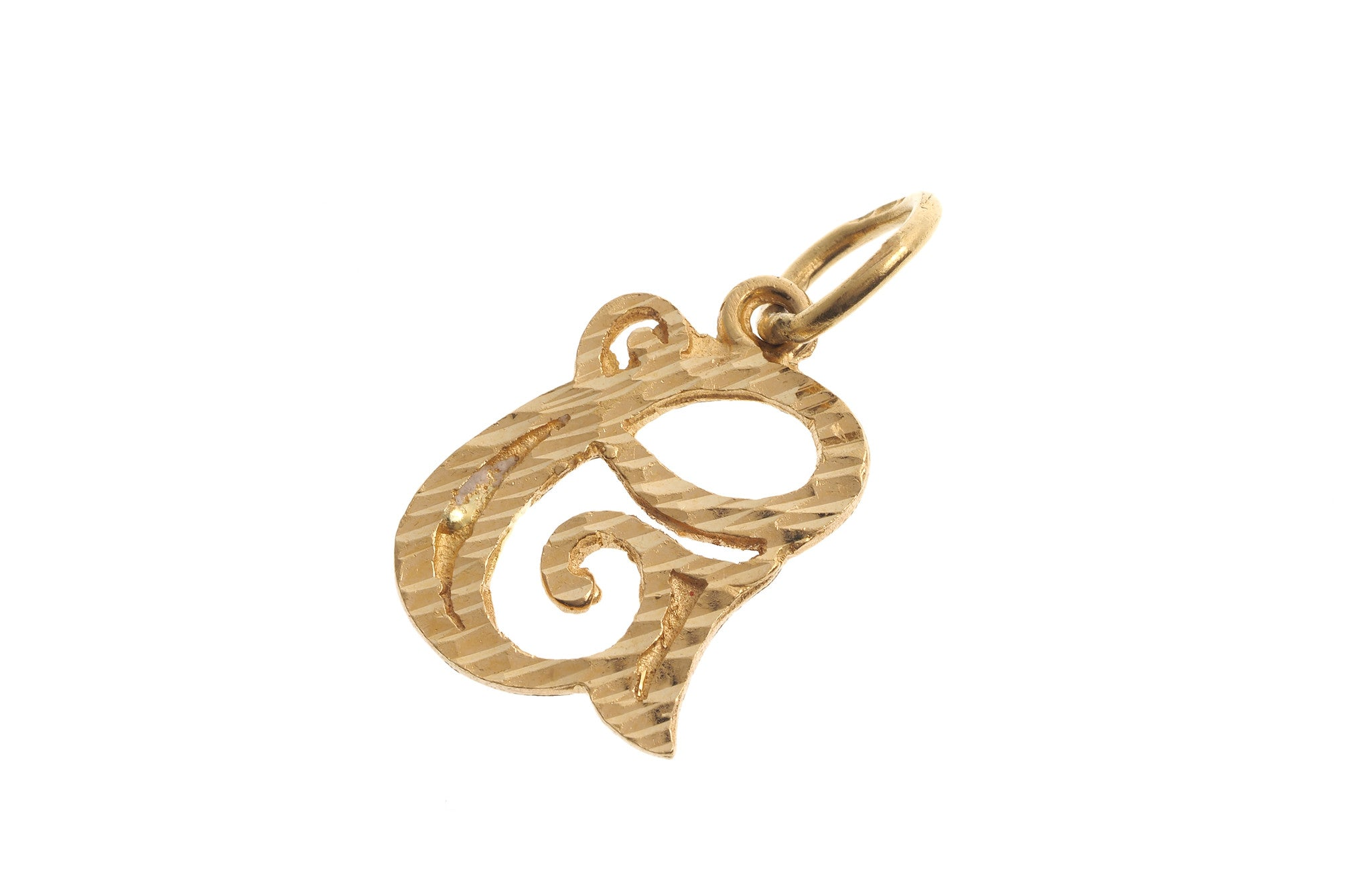 'G' Initial Pendant 22ct Yellow Gold (2g) P-5622