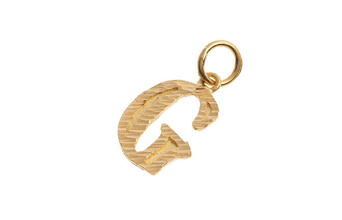 22ct Yellow Gold 'G' Initial Pendant (1.9g) (P-5623)
