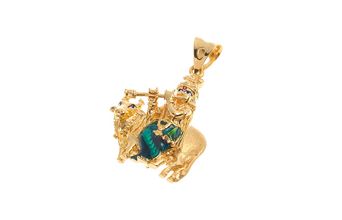 22ct gold krishna with flute in front of a cow pendant p 6233 22ct gold krishna with flute in front of a cow pendant p 6233 online price only aloadofball Image collections