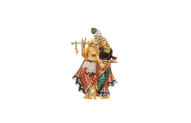 22ct Yellow Gold Radha Krishna Pendant with flute (P-6274) (online price only)