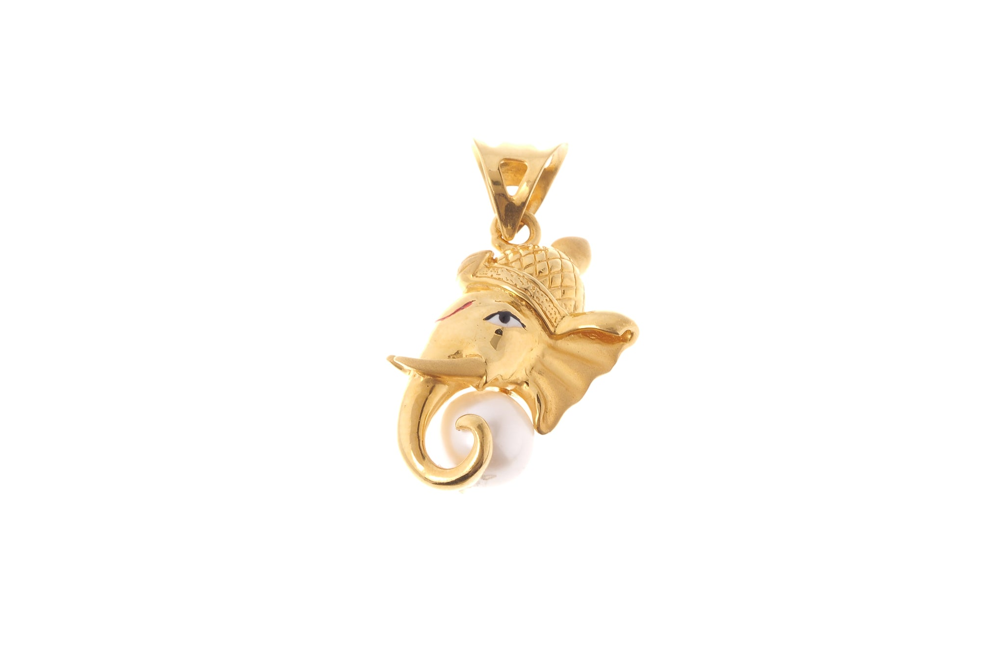 22ct gold cultured pearl ganesh pendant 41g p 6579 minar 22ct gold cultured pearl ganesh pendant 41g p 6579 aloadofball Choice Image