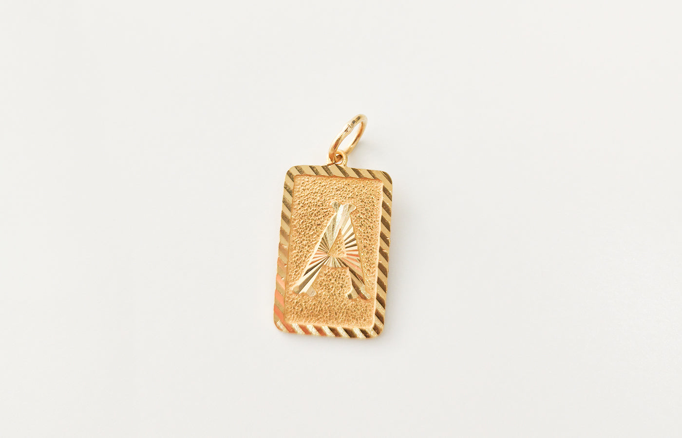 'A' Initial Pendant 22ct Gold P-7511