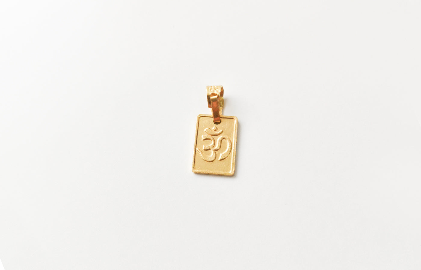 22ct Gold Reversible Om and Durga Pendant P-7514