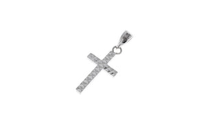 18ct White Gold Cross Pendant (C1270-WW)