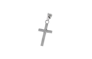 18ct White Gold Cross Pendant (0.56g) (C1270-WW)