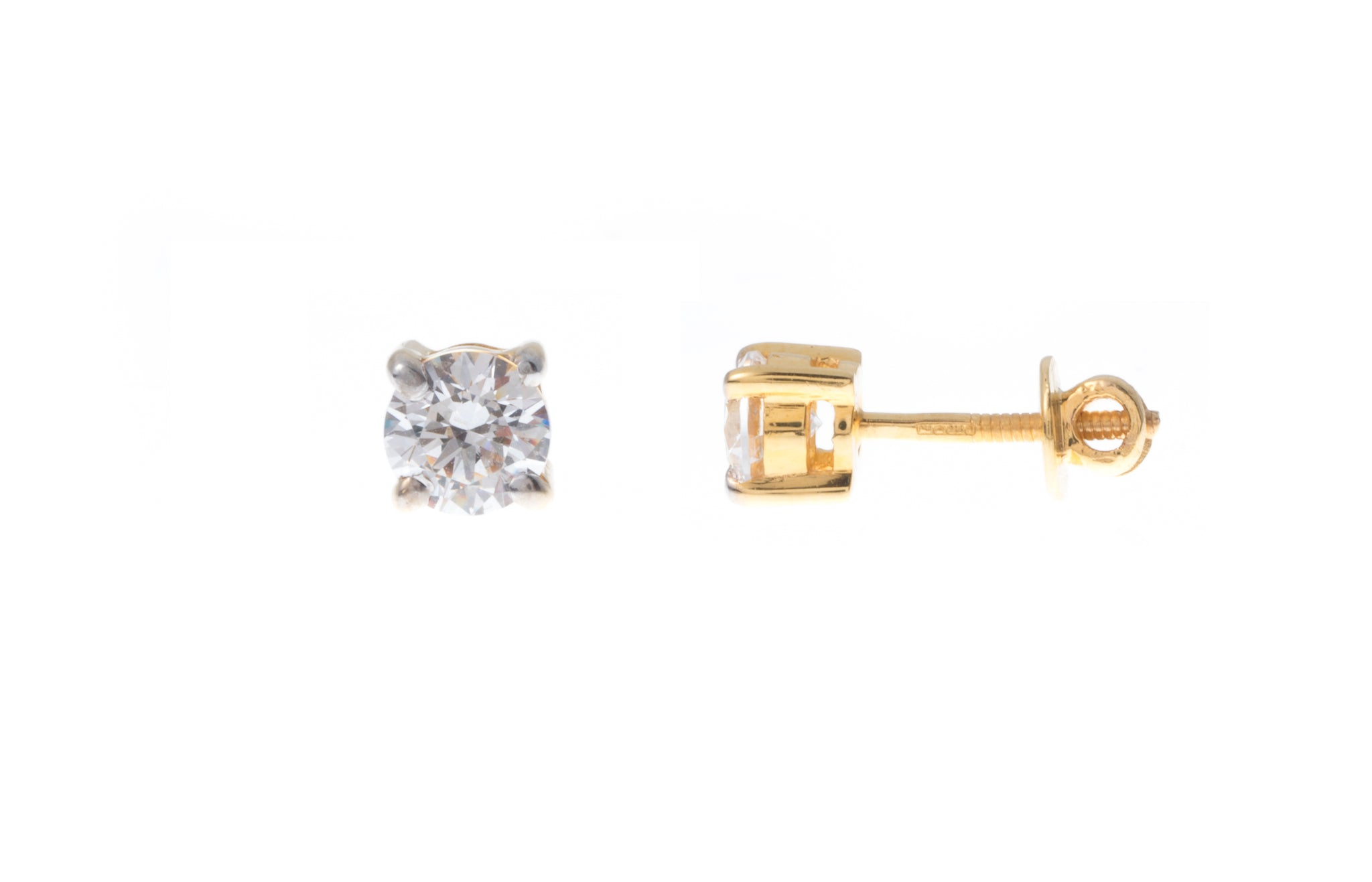 22ct Gold Swarovski Zirconia Stud Earrings (2.75g) PSE7026