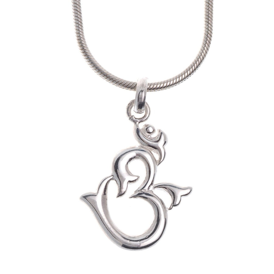 "Sterling Silver Om Pendant & Chain 16"" (G5384 & G5385), Minar Jewellers - 1"