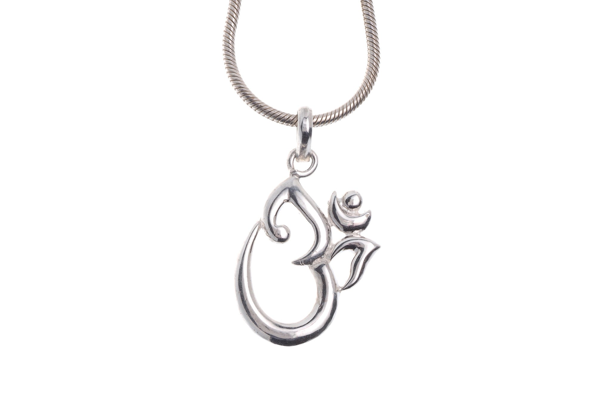 "Sterling Silver Om Pendant & Chain 16"" (G5386 & G5387), Minar Jewellers - 2"