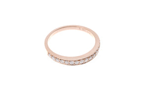 18ct Rose Gold Diamond Half Eternity Ring (R24676A-3003)