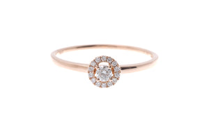 18ct Rose Gold Diamond Engagement Ring (R32456-3096)