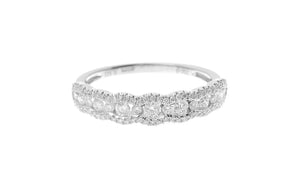18ct White Gold Diamond Half Eternity Ring (R35009E-3005)