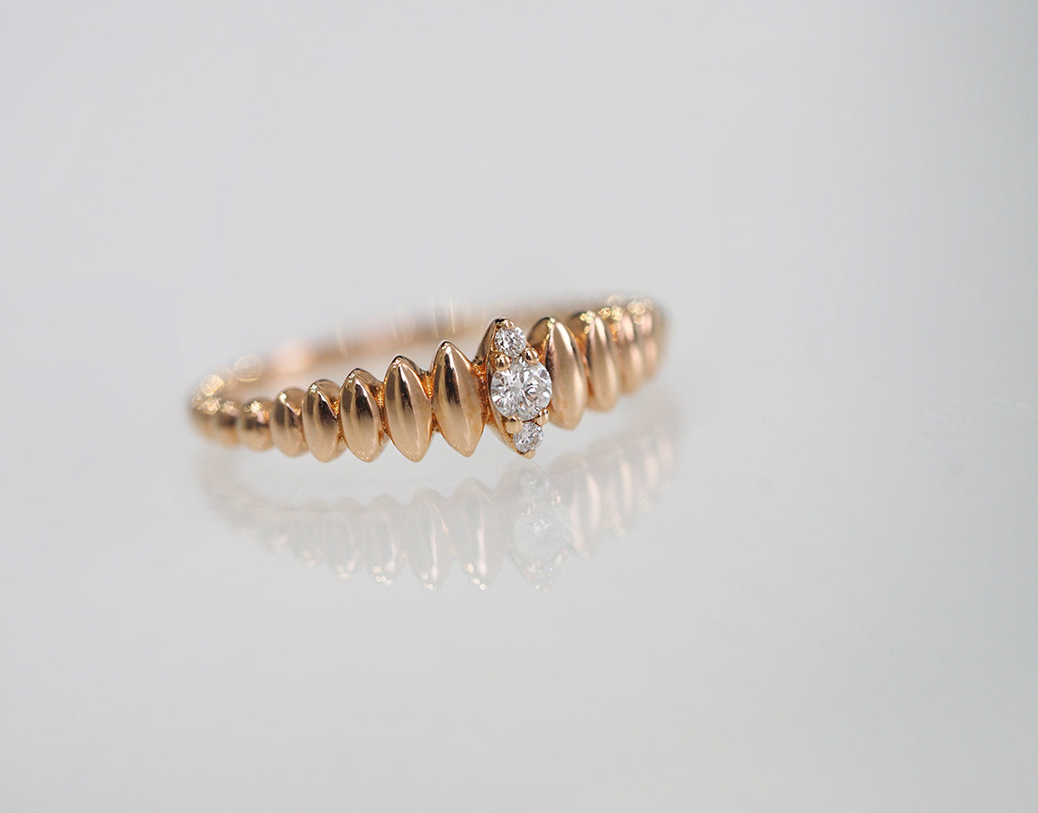 18ct Rose Gold Diamond Ring (R382693001)