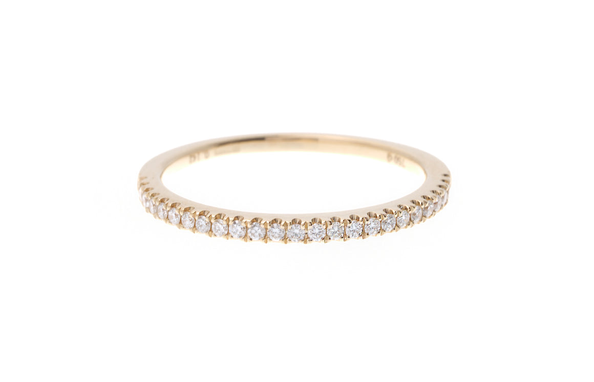 18ct Yellow Gold Diamond Half Eternity Ring (R40151B-3023)
