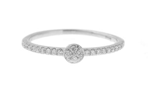 18ct White Gold Diamond Engagement Ring (R40841-5)