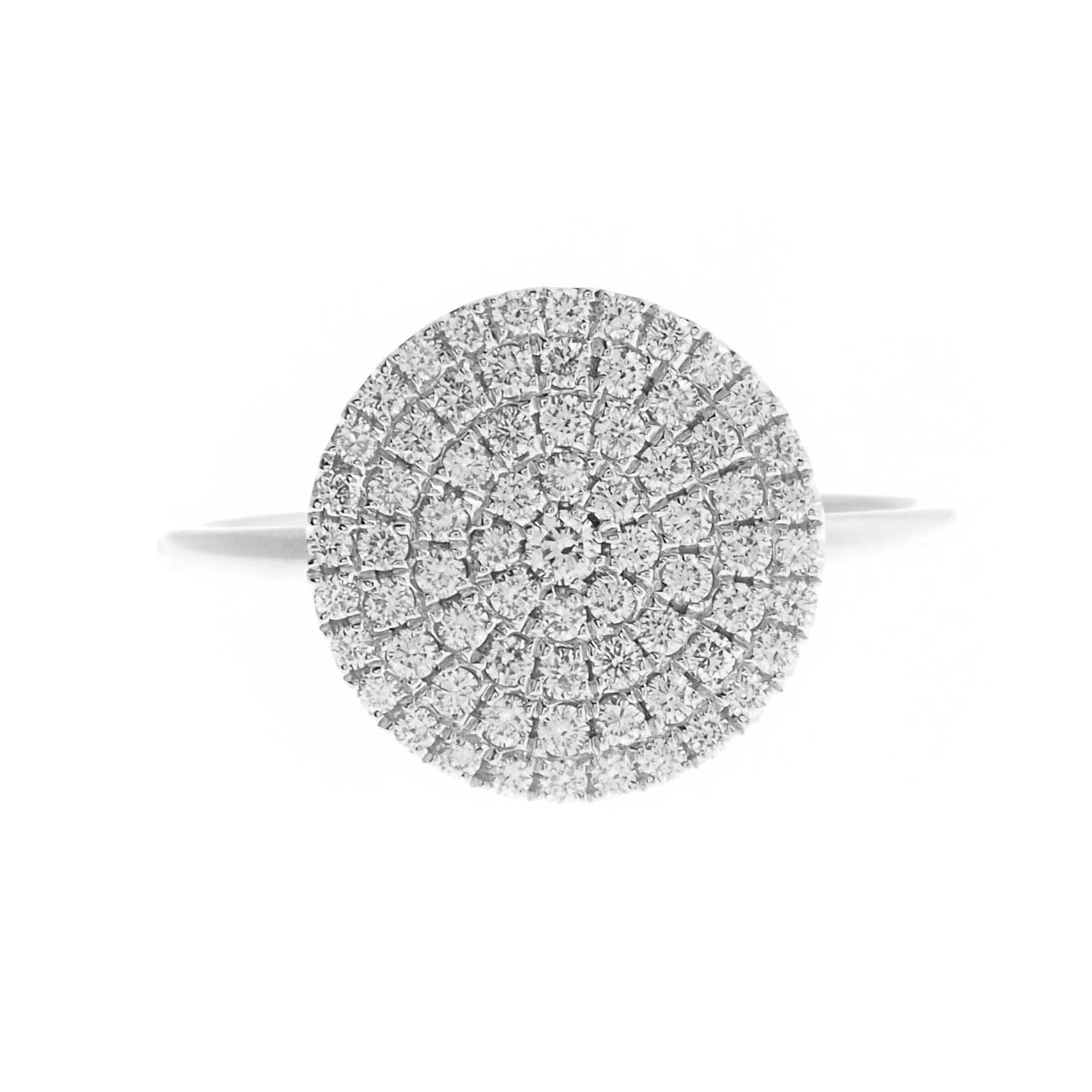18ct White Gold Diamond Cluster Dress Ring (R42753-2)