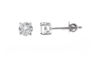 18ct White Gold Earrings set with Cubic Zirconia stones (RD0002)