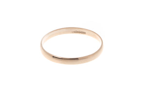 18ct 'Blush' Rose Gold Court Wedding Band R/WBUFHBlush(2mm)