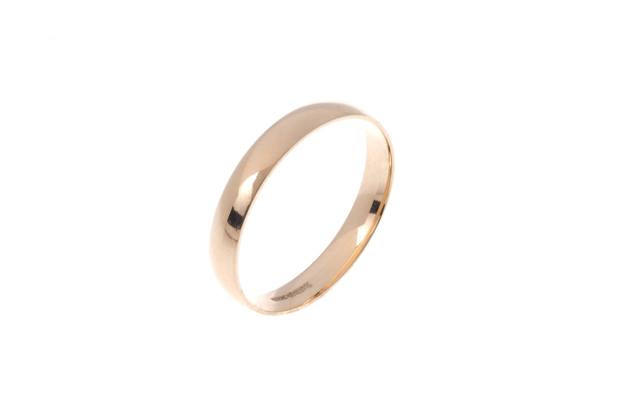 18ct 'Blush' Rose Gold Court Wedding Band R/WBUFHBlush(3mm)
