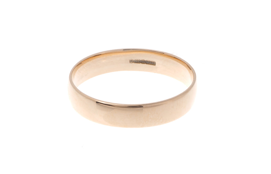 18ct 'Blush' Rose Gold Court Wedding Band R/WBUFHBlush(4mm)