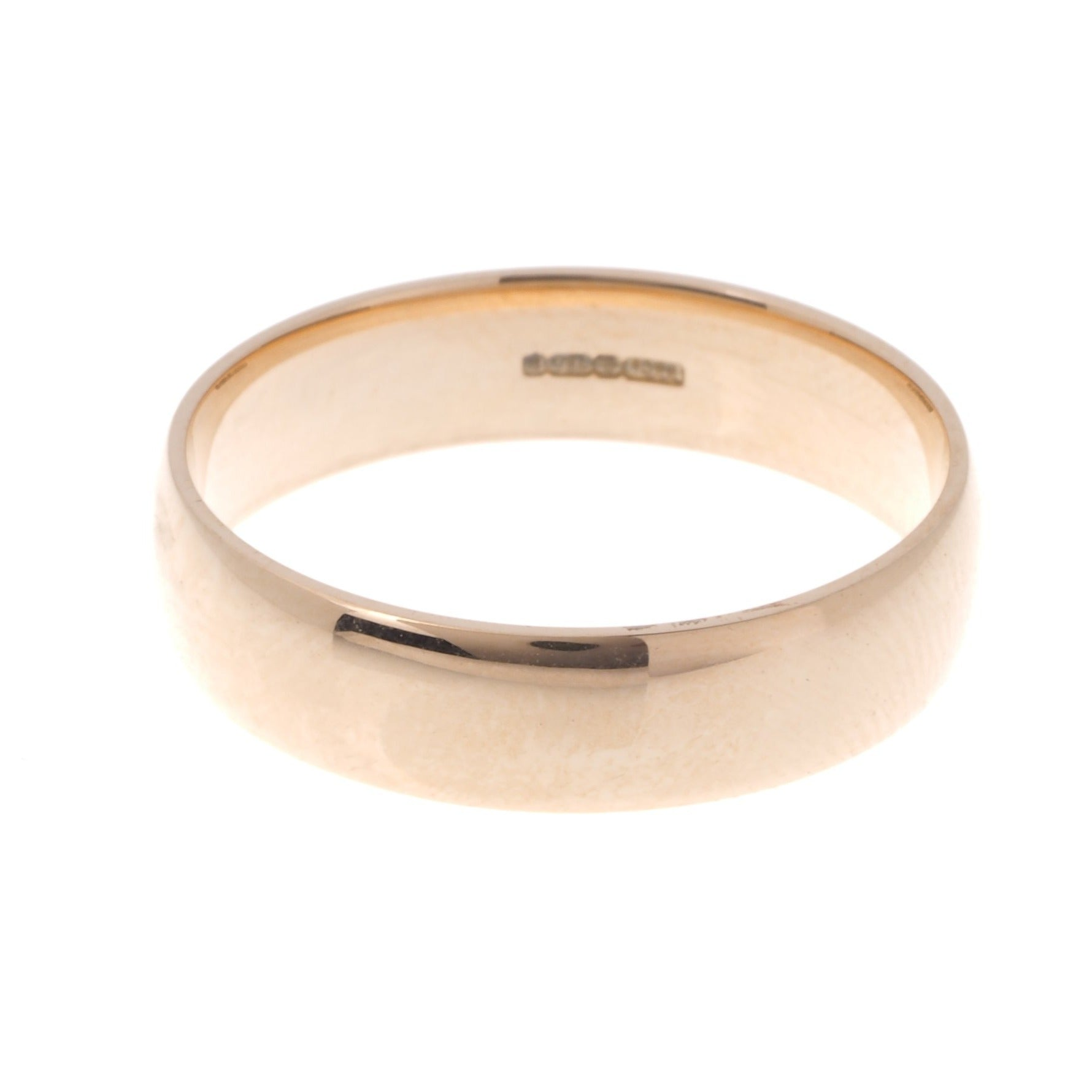 18ct 'Blush' Rose Gold Gents Court Wedding Band R/WBUFHBlush(5mm)