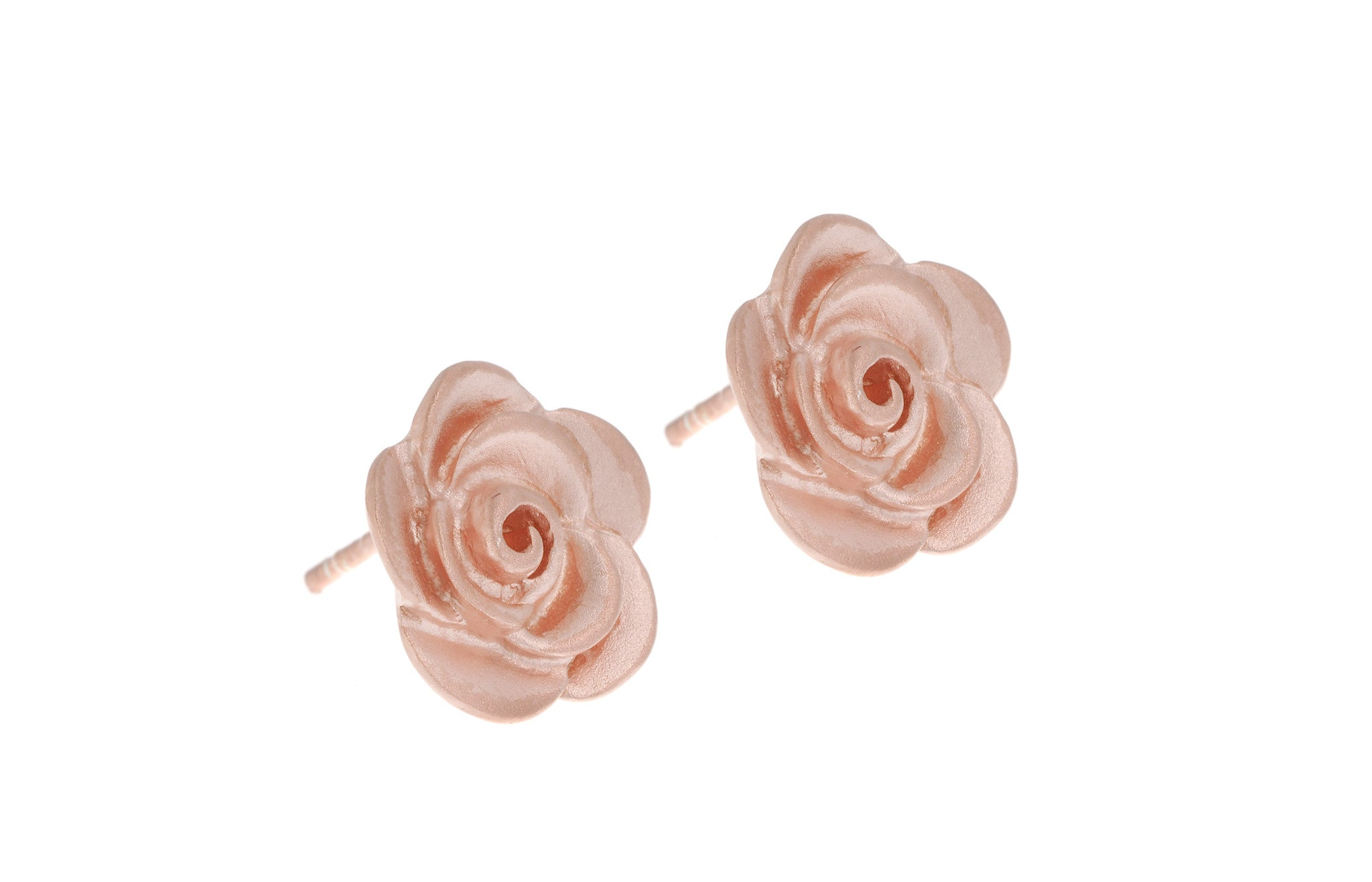 Rose Gold Plated Sterling Silver Earrings, Minar Jewellers - 2