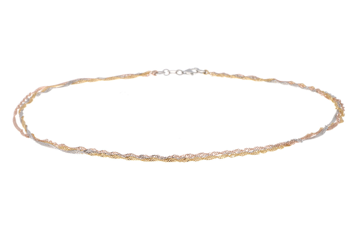 "Gold Plated Sterling Silver Chain 16"", Minar Jewellers - 1"