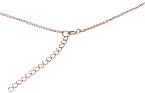Rose Gold Plated Sterling Silver Rose Design Necklace, Minar Jewellers - 2