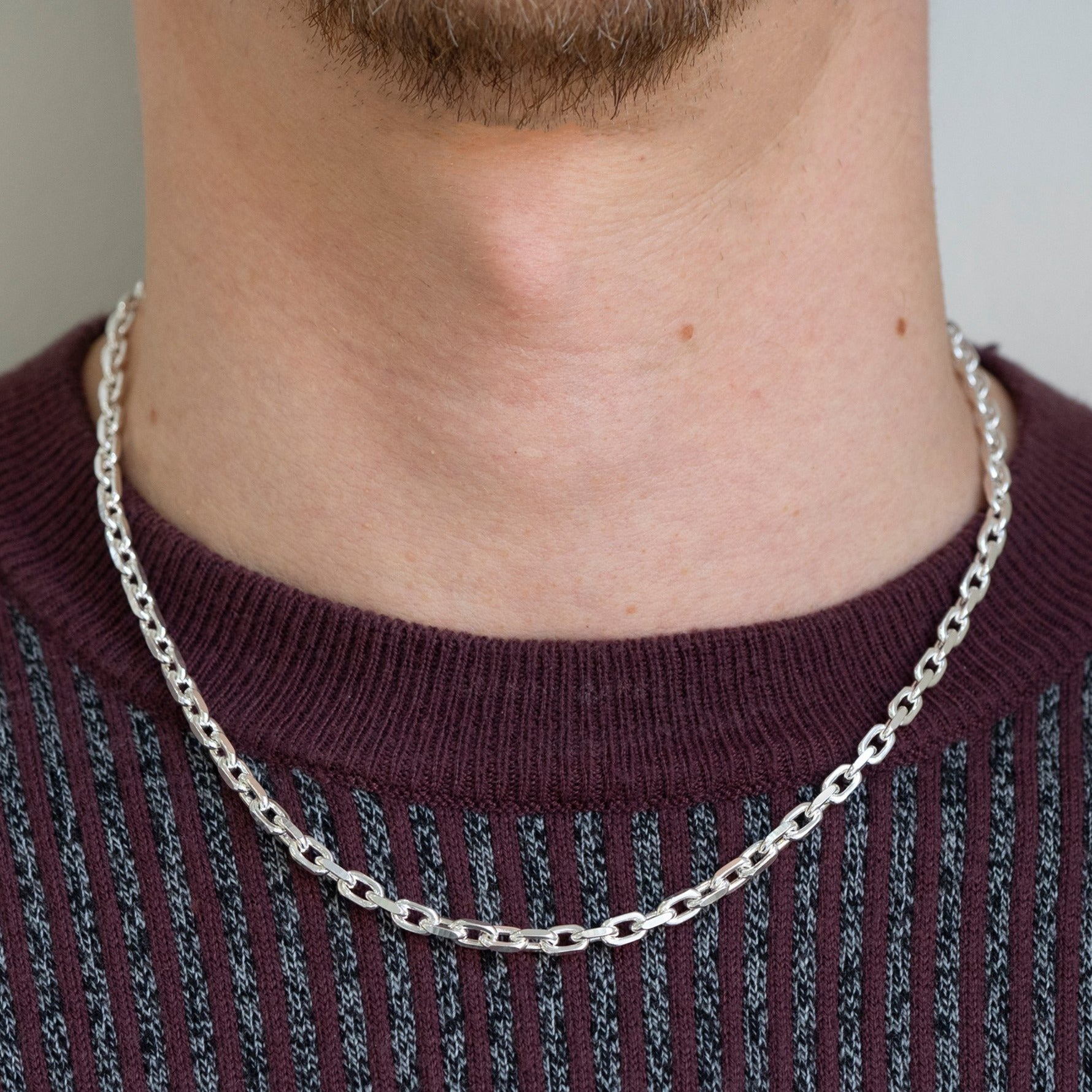 Sterling Silver Hallmarked Gents Belcher Chain SN101C