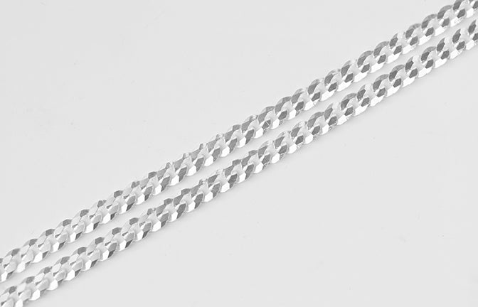 Sterling Silver Gents Curb Link Chain SN234C
