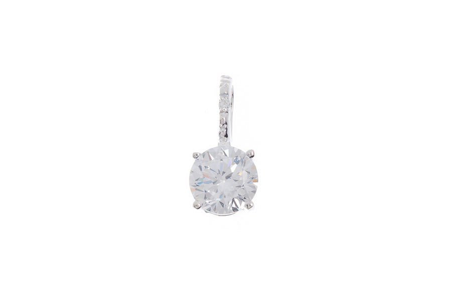 Sterling Silver Cubic Zirconia Pendant (G5375), Minar Jewellers - 1