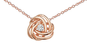 Rose Gold Plated Sterling Silver Cubic Zirconia Pendant SP076C