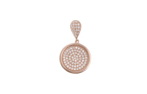 Rose Gold Plated Sterling Silver Cubic Zirconia Pendant, Minar Jewellers - 2