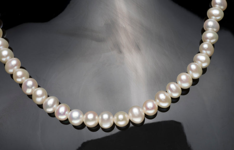 Cultured Pearl 6-7mm Necklace with Sterling Silver Magnetic Clasp SWZP6-7