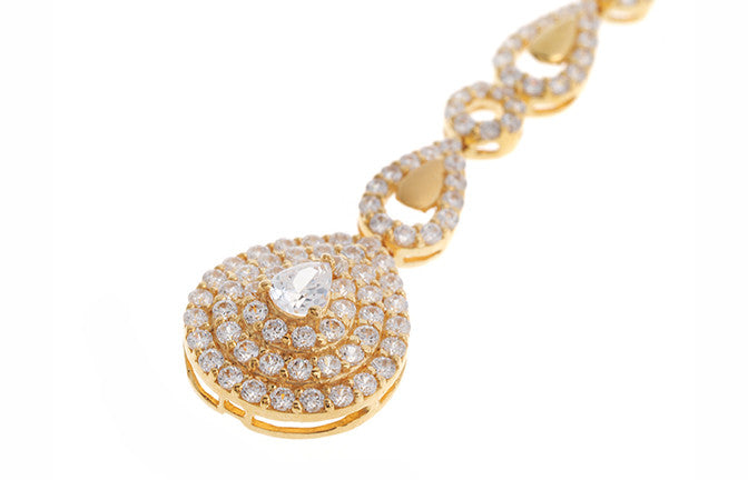22ct Yellow Gold Cubic Zirconia Tikka (T-5509)
