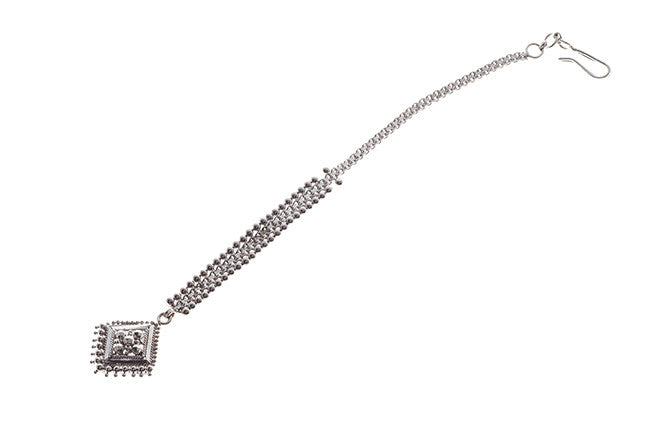 Rhodium Plated 22ct Gold Tikka (T-5862)