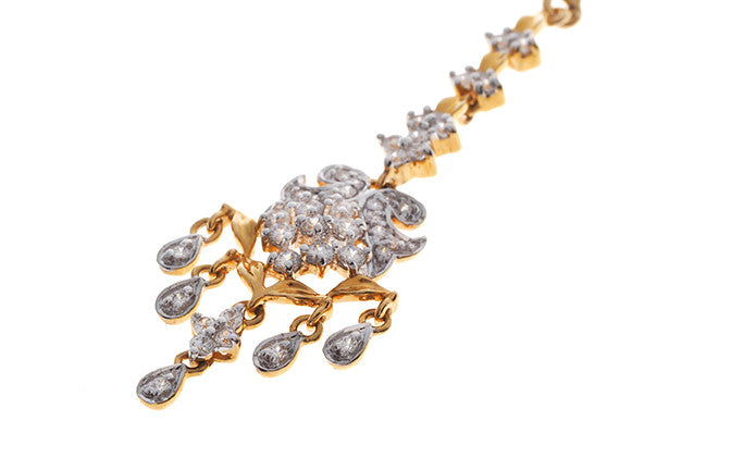 22ct Yellow Gold Cubic Zirconia Tikka (TIKA-11001)