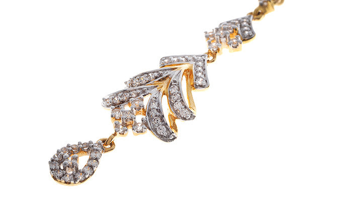 22ct Yellow Gold Cubic Zirconia Tikka (TIKA-11003)