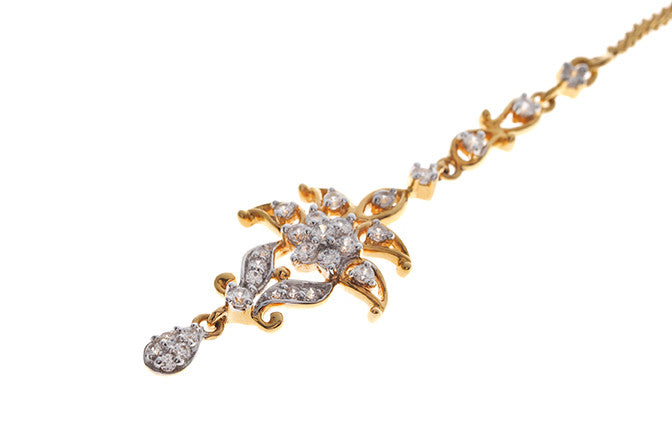 22ct Yellow Gold Cubic Zirconia Tikka (TIKA-11005)
