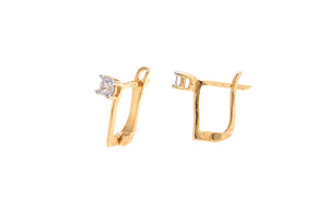 22ct Yellow Gold & Cubic Zirconia Hoop Earrings (1.78g) (VBET069)