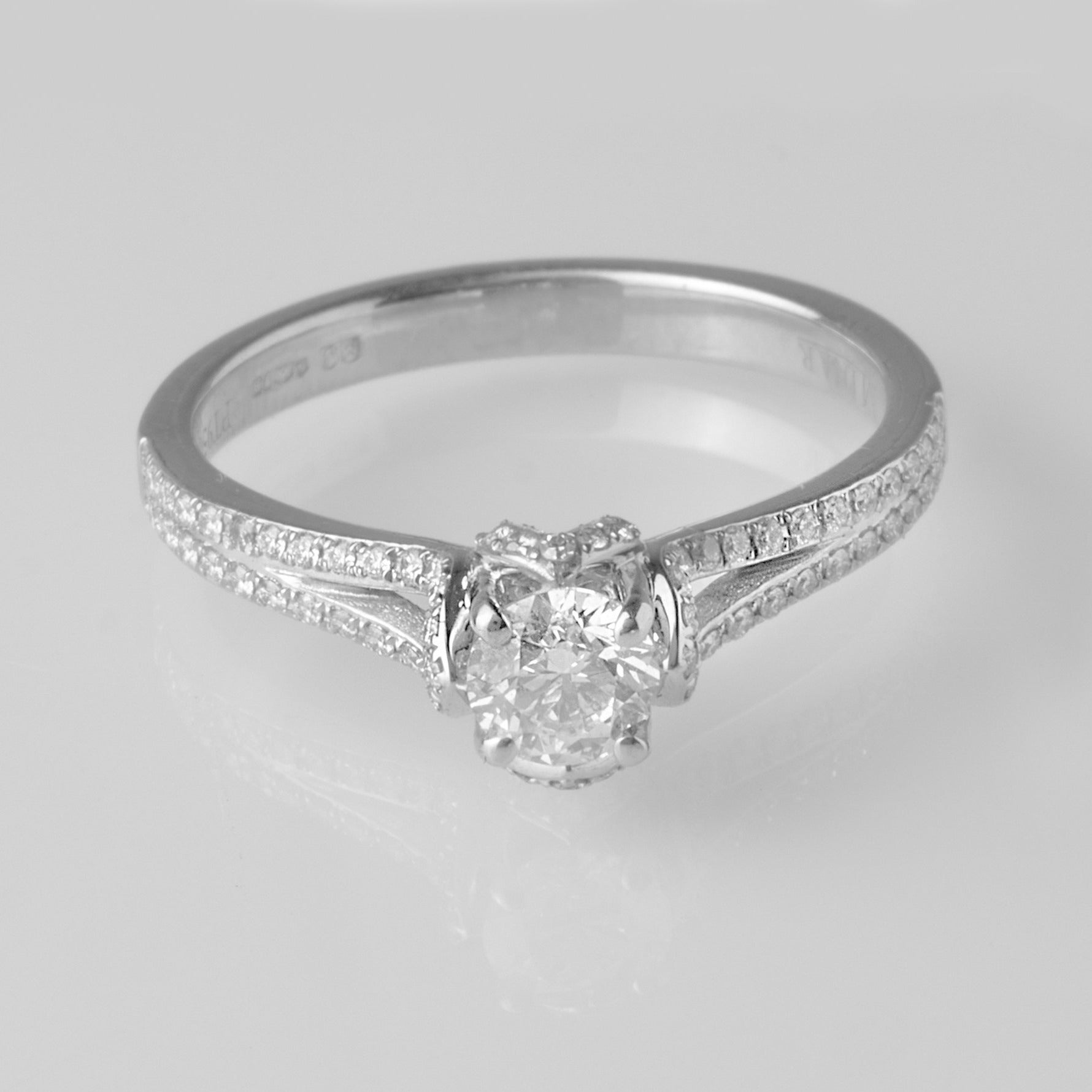 Platinum Diamond Engagement Ring VDRA2097