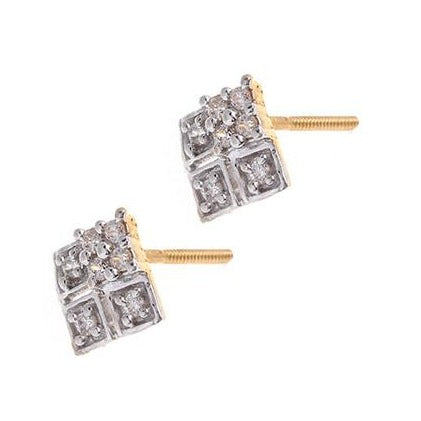 22ct Gold Cubic Zirconia Stud Earrings (2.89g) VET185
