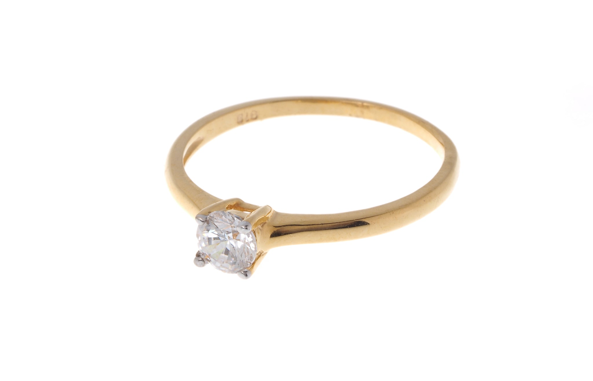 22ct Gold Cubic Zirconia Engagement Ring (VLR002)