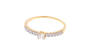 22ct Yellow Gold Cubic Zirconia Engagement Ring (VLR007)