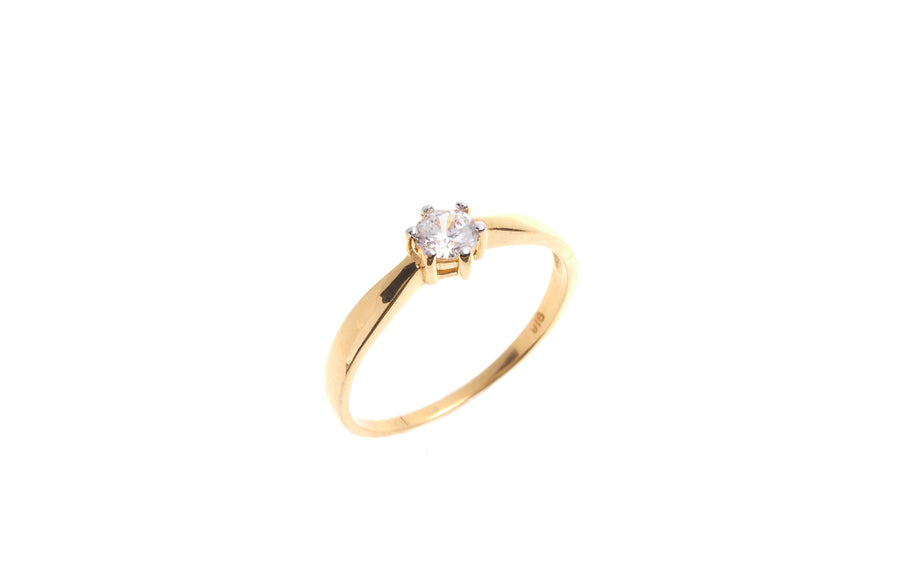 22ct Gold Cubic Zirconia Engagement Ring VLR011