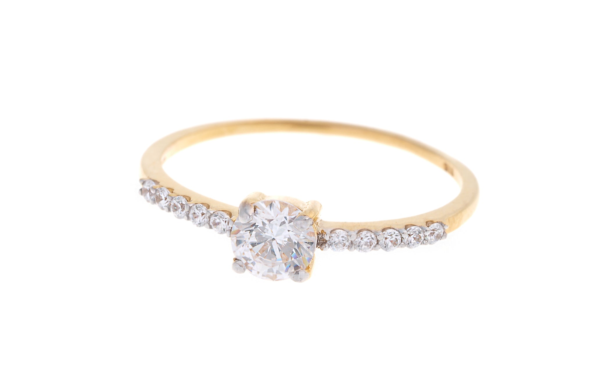 22ct Gold Cubic Zirconia Engagement Ring VLR023